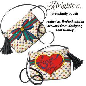 Brighton love and joy canvas crossbody pouch NWT